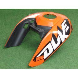 KTM DUKE 125 / ABS COVER FUEL TANK TOP ORANGE 9010804900004 ,